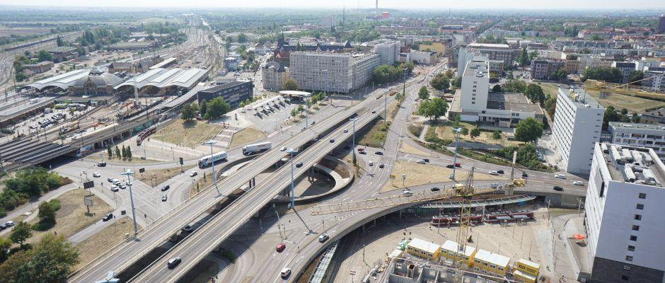 Luftbild Riebeckplatz